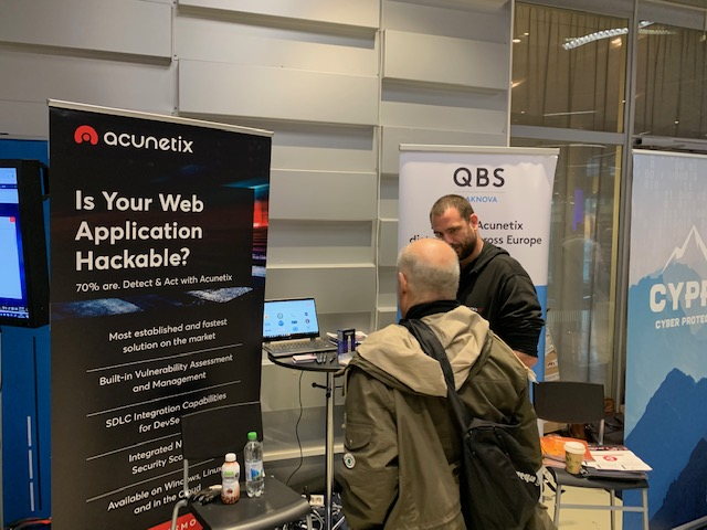 QBS Laknova – Acunetix exhibited at the Nordic IT Security legacy event
